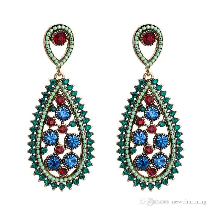 820255f65 Cheap Long Bridal Crystal Earrings Wholesale Crystal Ball Hoop Earrings