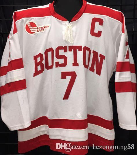 new arrival adea7 97c48 #7 David Van Der Gulik BOSTON COLLEGE Ice Hockey Jersey Mens Embroidery  Stitched Customize any number and name Jerseys