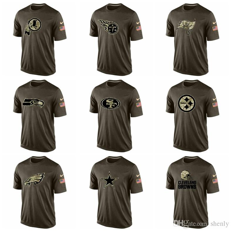 6f470d2cf Eagles Steelers 49ers Seahawks Titans Redskins Men T Shirts Salute To  Service Dri FITT Shirt Humorous Shirts Buy Tee Shirts From Shenly