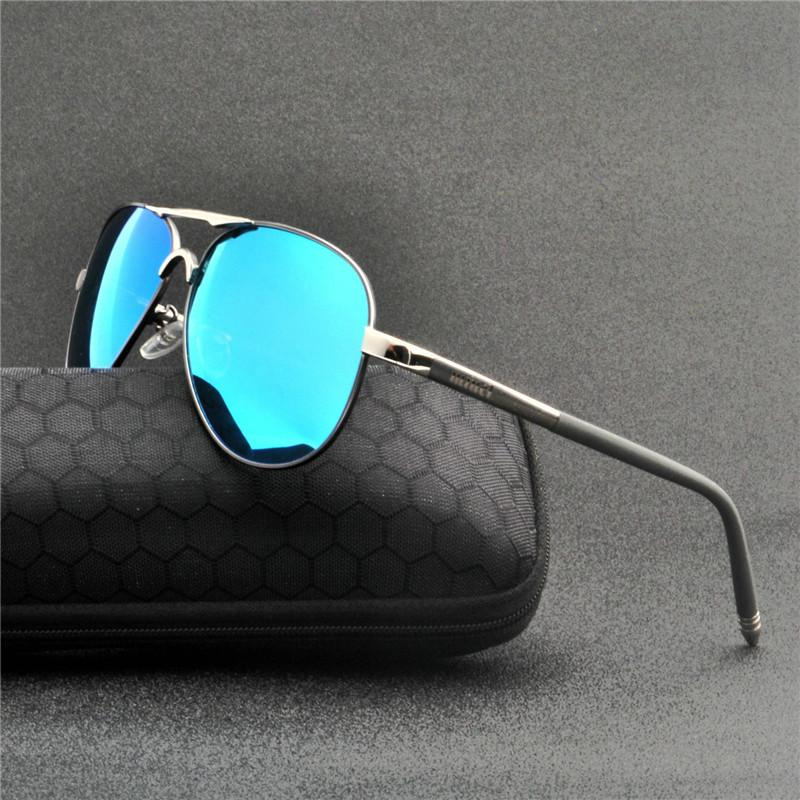 3410e54ca6 2019 Design Polarized Sunglasses Men Driving Square Frame Black ...