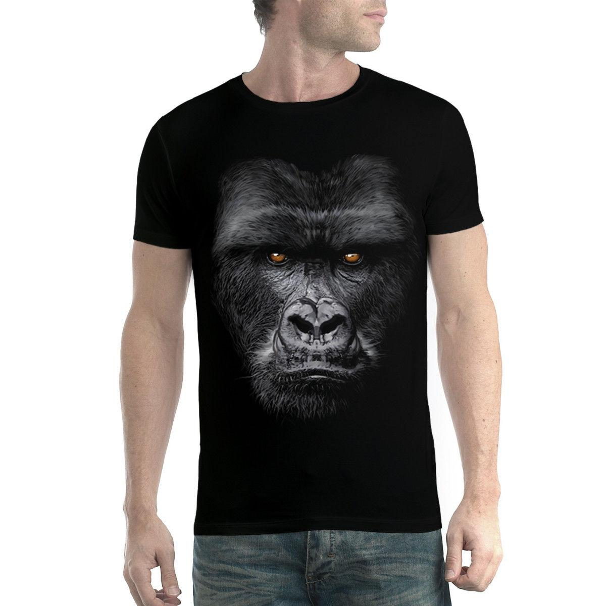 Gorilla Face Ape Mens T-shirt XS-5XL Funny free shipping Unisex Casual Tshirt