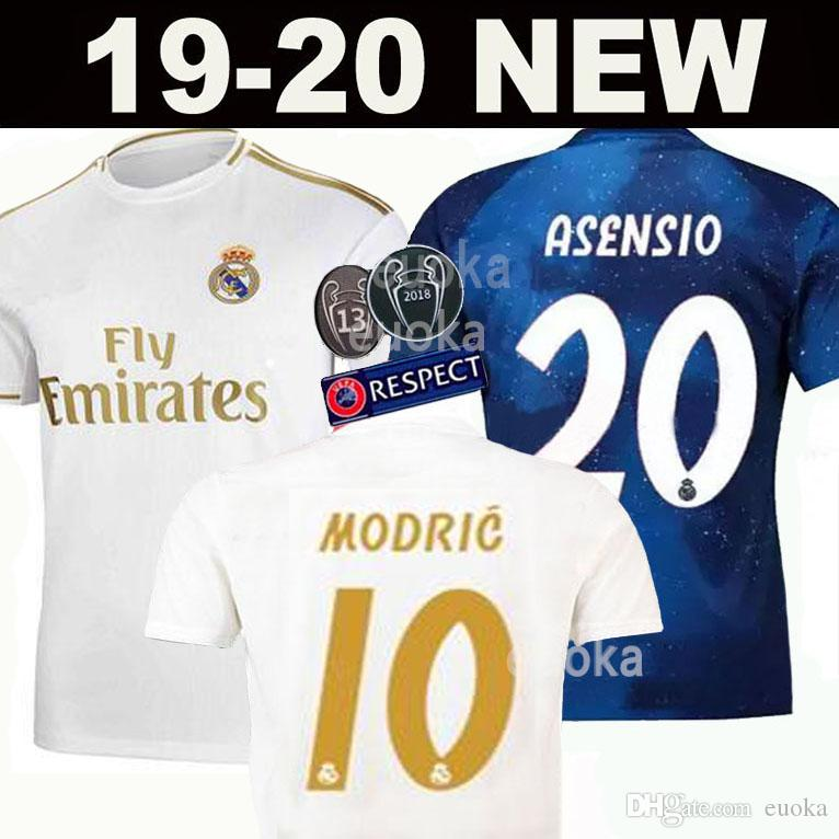 New Soccer Jerseys 2020 2019 New 2019 Real Madrid Home Soccer Jersey 2020 Real Madrid Away