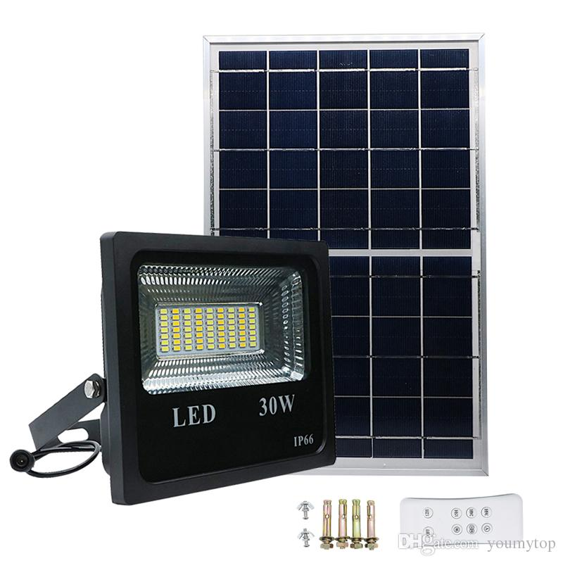 Intelligent New High Quality Solar Portable Rechargeable Led Flood Light Outdoor Garden Work Spot Lamp 30w Drop Shipping 2019 Latest Style Online Sale 50% Led Flashlights Led Lighting