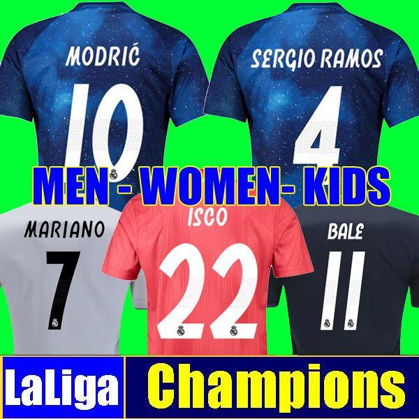 Camiseta De Fútbol Tailandia REAL MADRID Jerseys HOMBRE MUJER NIÑOS Soccer  Jersey 18 19 Camisa Liga De Campeones Jersey De Madrid Real Madrid 2019  Camisetas ... 5ca3bbb4183b5