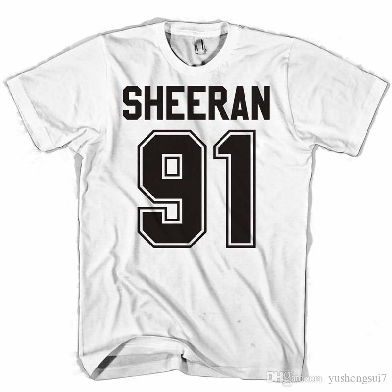 T Personalizado Manga Diseño Divertida Ed Los Hombres Sheeran Corta 91 Camisetas De Shirt qMVUzSp