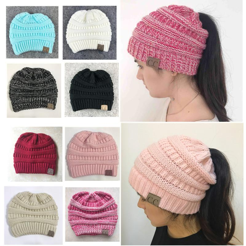 e97c586f0f8 XdanqinX Winter Women s Hat Thicker Warm Fashion Ponytail Beanies ...