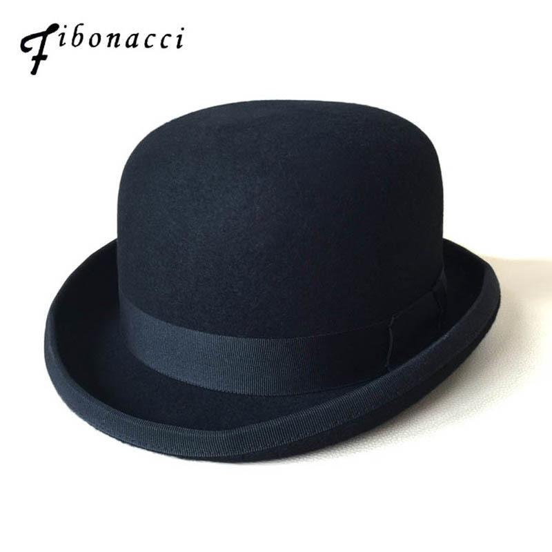 Compre Steampunk Negro Victorian Cúpula Formal Sombrero Fieltro De Lana  Mago De La Vendimia Sombreros Locos Sombrerero Presidente Bowler Hat  D19011103 A ... ae96bd048f2