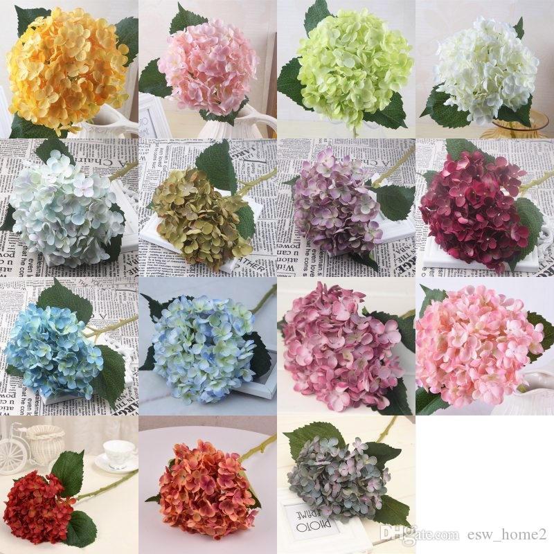 Grosshandel Kunstliche Hortensie Blume Simulation Seidenblumen