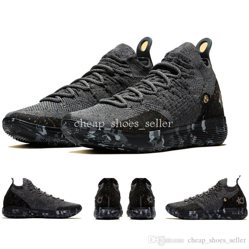 b7ba1fd6f99 2019 2019 New Triple Black KD 11 Emoji Brand Men Kevin Durant 11 Academy  Basketball Shoes For Mens Trainers Sports Designer Sneakers Size 40 46 From  ...