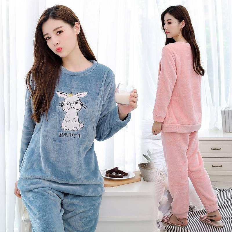 afe17de3f403f 2019 2019 Maternity Clothes Winter Fashion Flannel Plus Velvet Suit Plus  Velvet Warm Breastfeeding Suit Bunny From Namenew, $45.39 | DHgate.Com