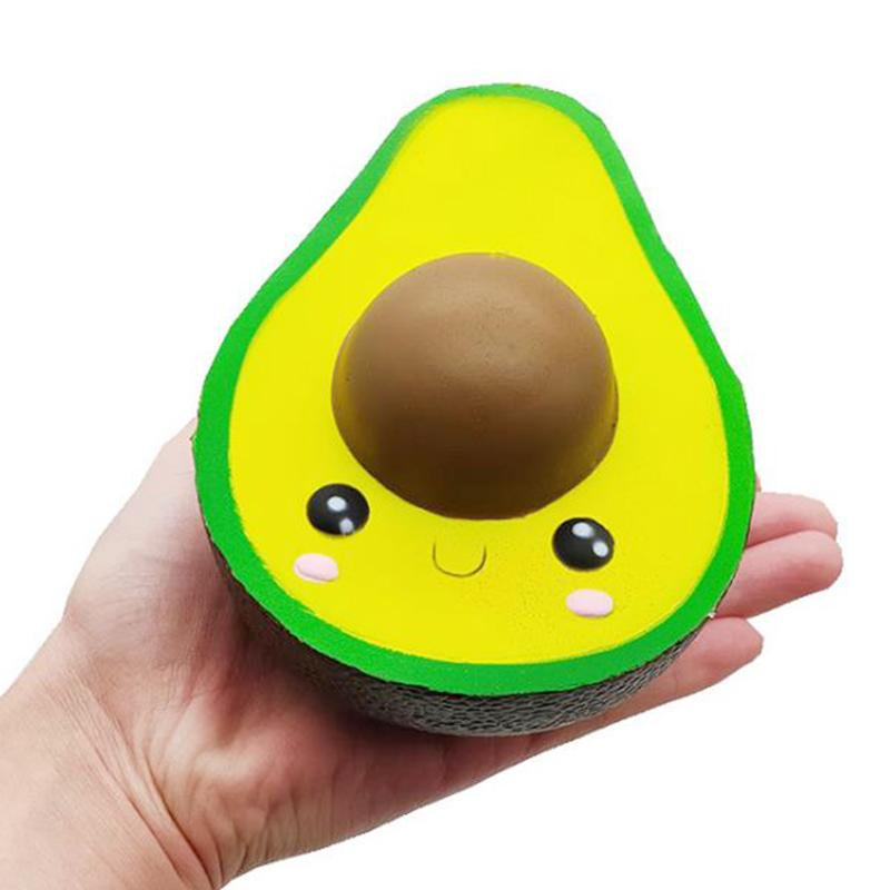 Squishy Toy aguacate linda imagen Slow Rising Jumbo Stress Relieve Dolls Multicolor Squeeze Toys Kids descompresión juguetes MMA2245