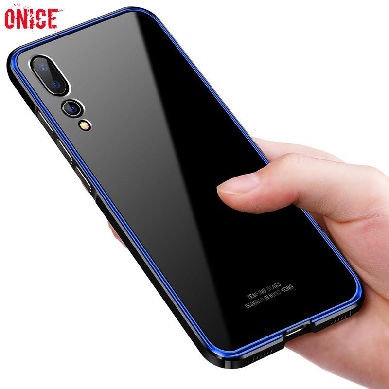 be0abba313 Housse De Téléphone Portable Huawei P20 Pro Case De Luxe En Aluminium Métal  Bumper Téléphone Cas Sur Pour Fundas Huawei P20 Pro P20Pro Coque Rigide  Coque ...