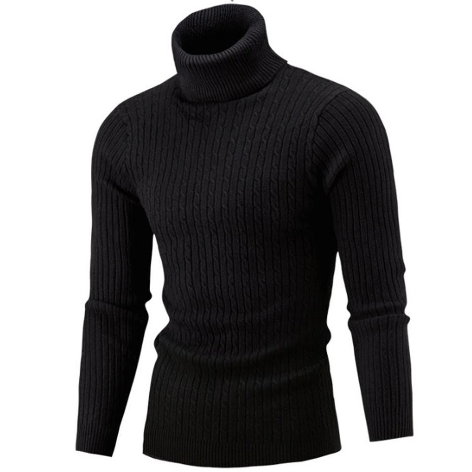 2019 ZOGAA Winter High Neck Thick Warm Sweater Men Turtleneck Brand Mens  Sweaters Slim Fit Pullover Men Knitwear Male Double Collar From Jujubery 354291860