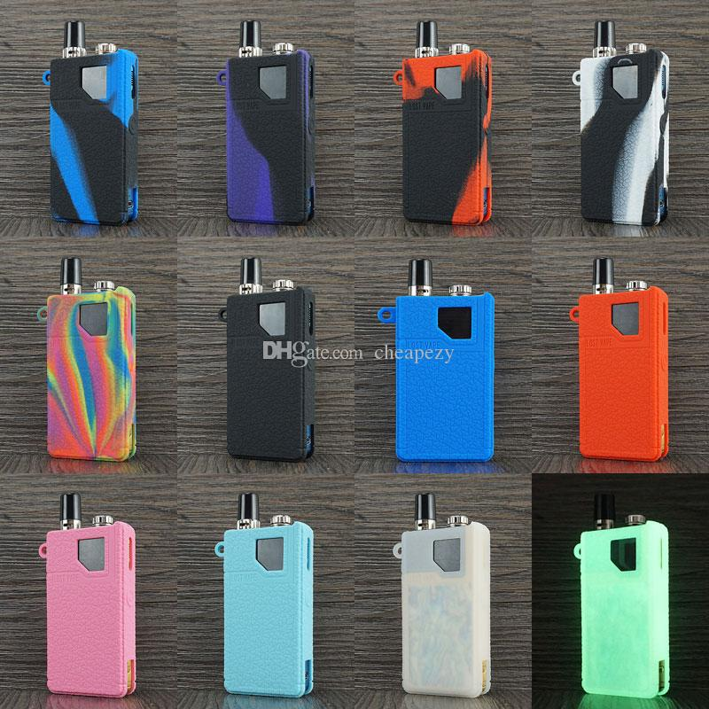 Silicone Sleeve for Lost Vape Orion DNA Go & Orion Q Leather Line Cover  Lostvape Protector Case Anti-Slip Anti-scratch