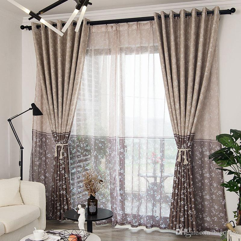 2019 Modern Floral Printed Blackout Curtains For Living ... on Bedroom Curtains Ideas  id=60240