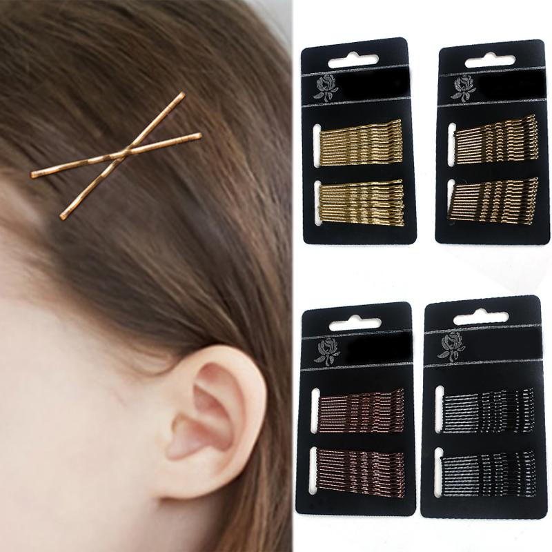 24PCS/1Set Bang clip Hair Accessories Valentines Gift Graceful Beautiful Bride No Hurt For Hair Golden Black Coffee Pin