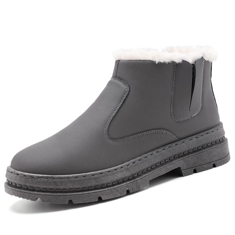 b7b98fc312d 2017 hot winter cotton shoes men plus velvet men's snow boots men shoes  casual high to help elastic band thick warm short boots