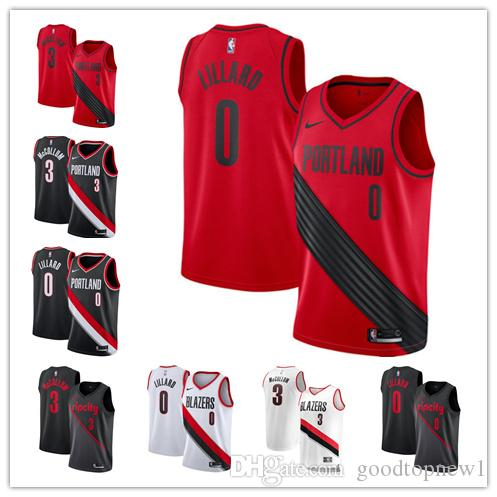new concept 97e02 4da7c Portland Trail C.J. McCollum Damian Lillard Blazers Swingman basketball  Jersey Statement City Edition