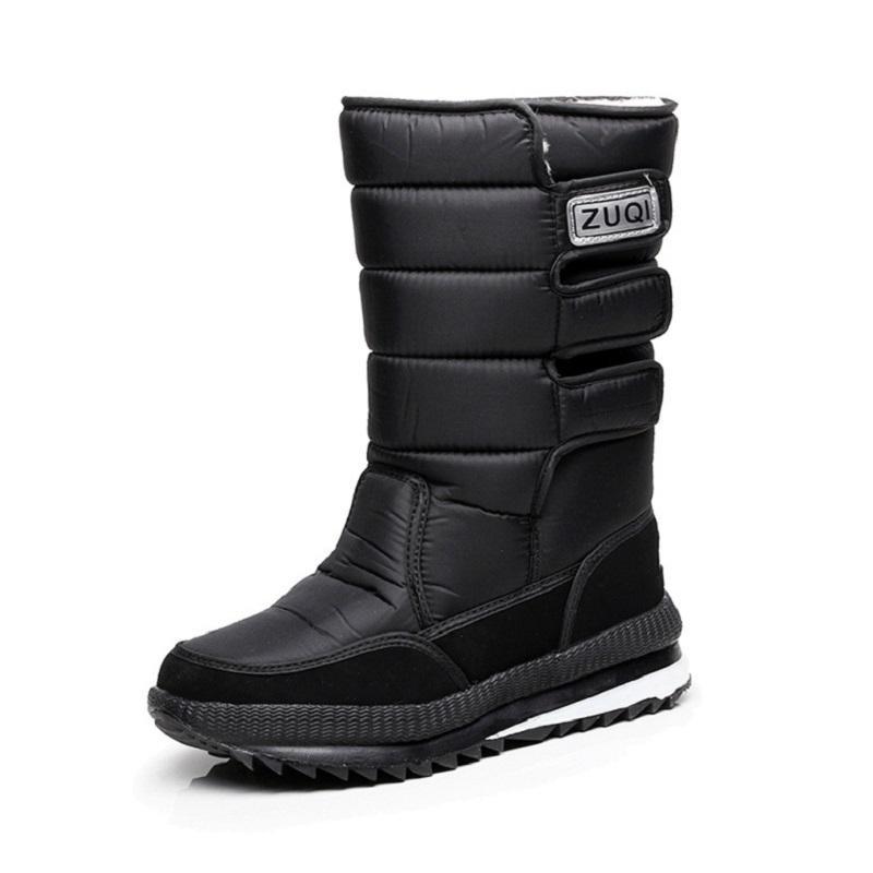 78b33d7b7f0 Compre 2017 Botas Para La Nieve Zapatos Impermeables De Los Hombres Botas  De Invierno Zapatos Al Aire Libre Caliente Mans Calzado Moda Trabajo A   40.42 Del ...
