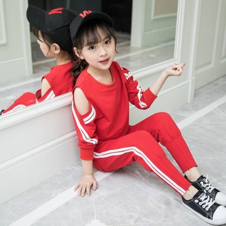 4989808a3f47d Compre 2019 Nueva Moda Niños Ropa Conjunto Niñas Ropa Camiseta + Pantalones  2 Unids Set Niños Chándal Primavera Otoño Traje Deportivo A  57.39 Del  Cynthia03 ...