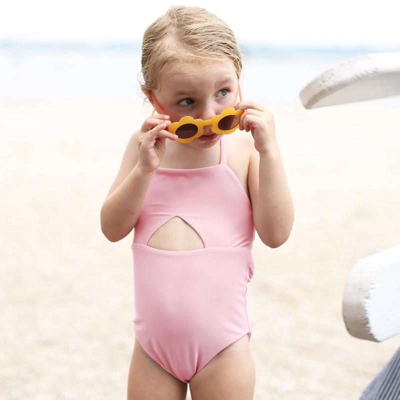 b52daed2f57a Compre Traje De Baño Bebé Niñas Sling Traje De Baño Color Sólido Vendaje Body  Niños Ropa De Playa Traje De Baño Deportivo Bañador 0 24M A $23.31 Del ...