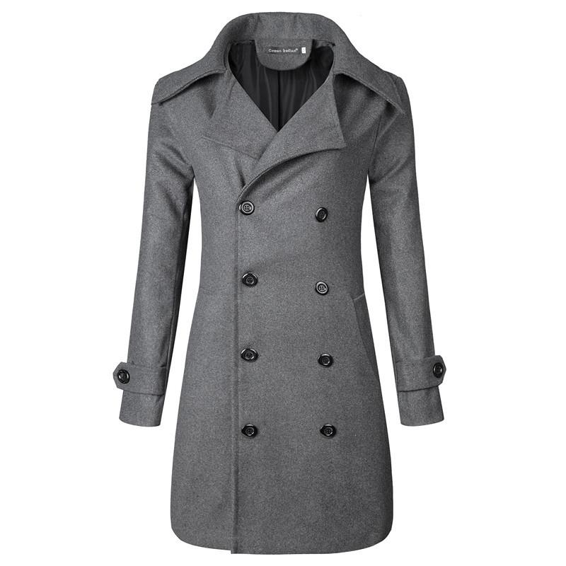 Acquista Man Woolen Long Coats Giacche 2018 Autunno Inverno Doppio Petto  Cappotto Allungato Semplice Cappotto Uomo Masculino Abbigliamento Uomo A   80.82 Dal ... b51972040f1