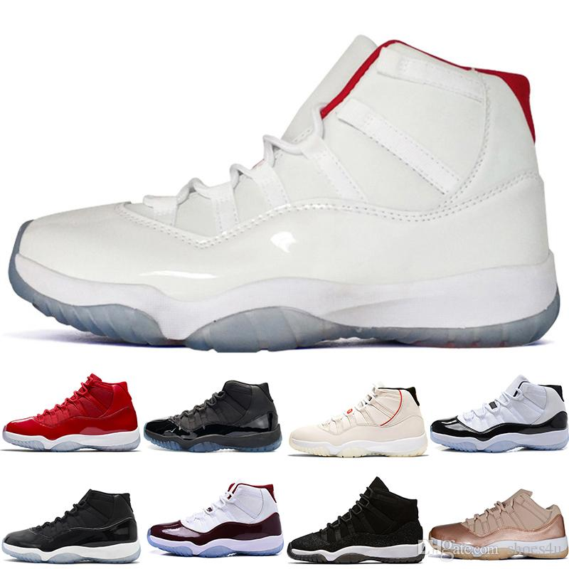 79c65bec086912 New 11 11s Platinum Tint Concord 45 Cap And Gown Prom Night Bred BARONS Space  Jams Basketball Shoes Men Women Win like 82 96 Sports Sneakers Online with  ...