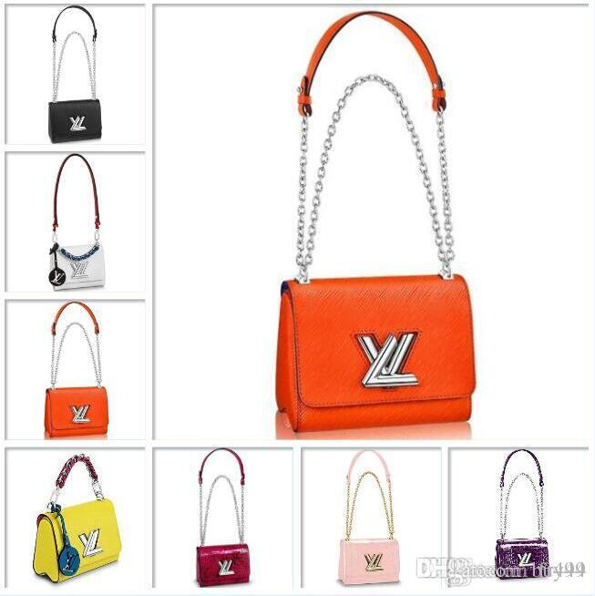 Louis LVLV Twist Bag luxury designer brand handbags Evening Shoulder Hobo Epi Leather Handbags Cross Body Bags TWIST PM M51641 Luggage Tote