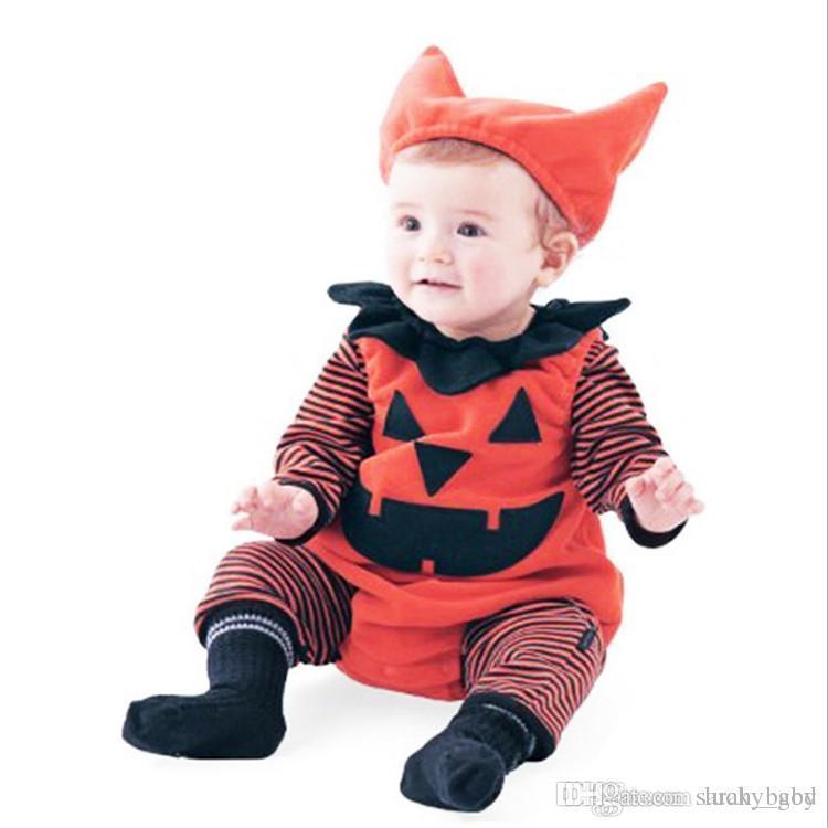 e4c558eeb 2018 New Halloween Baby Jumpsuit Autumn And Winter Three-piece Set ...