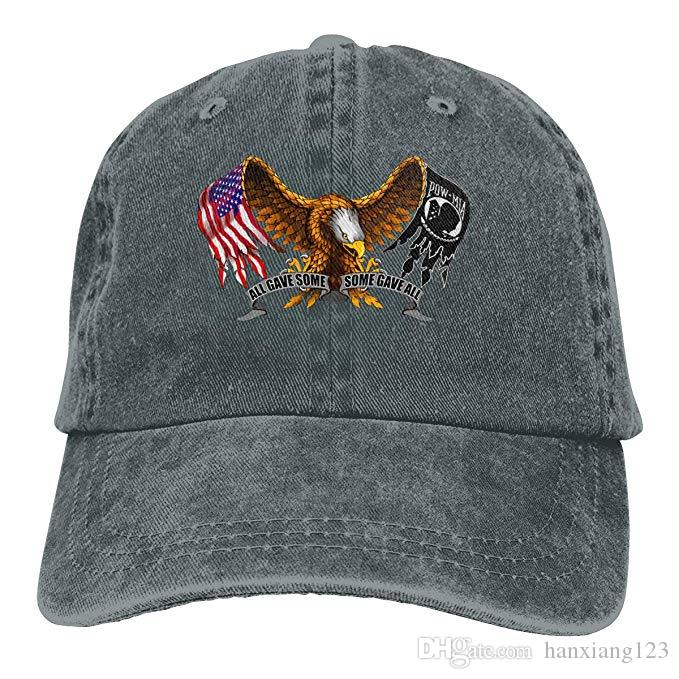 2019 2019 New Cheap Baseball Caps POW MIA American Eagle Flag Mens Cotton  Adjustable Washed Twill Baseball Cap Hat From Hanxiang123 c25311cbeba