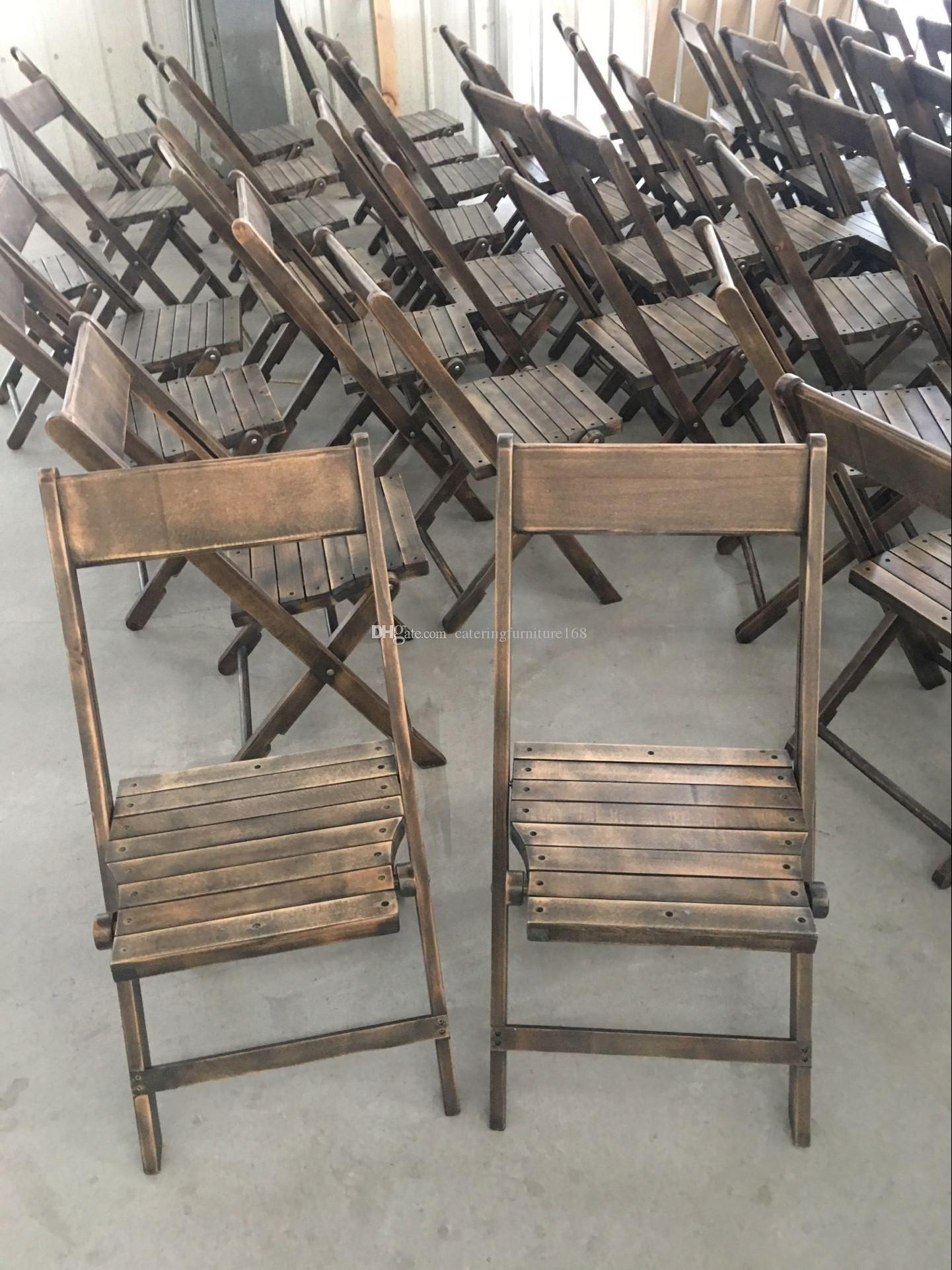 Bon Compre Sillas Plegables Envejecidos Vintage De Madera Para Jardín A $18.6  Del Cateringfurniture168 | DHgate.Com