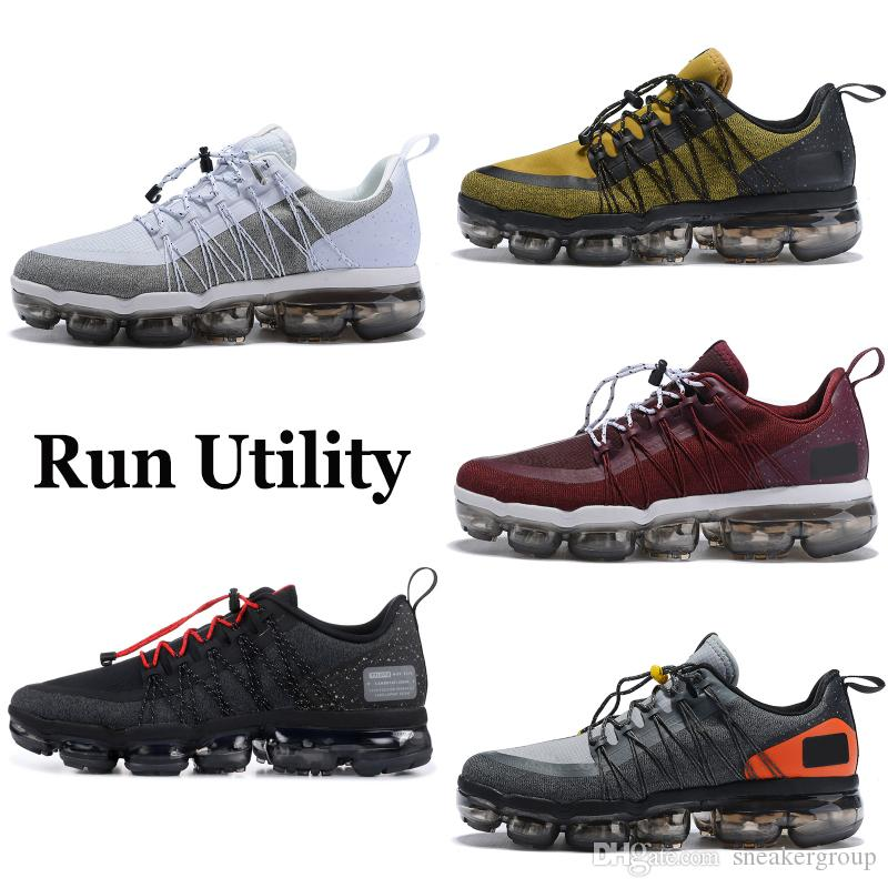 fcc50d57c0a 2019 Best Run Utility Men Running Shoes Anthracite Medium Olive Black  Reflect Silver Designer Sneakers Sport Shoes Trainers 40-45