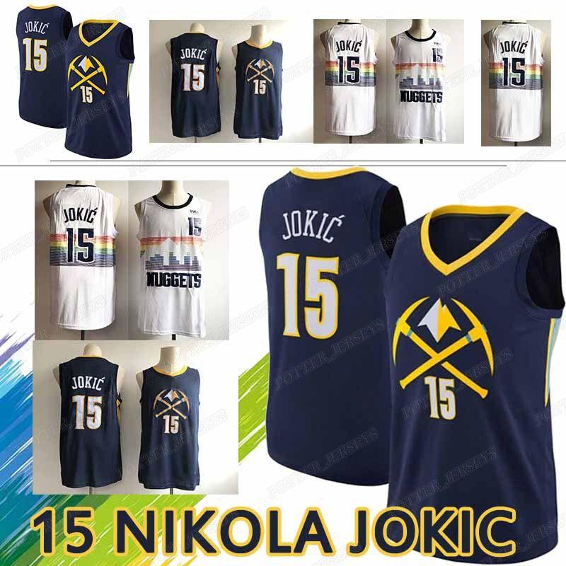 buy cheap 99747 72dd2 Denver jersey Nuggets Nikola 15 Jokic jerseys Maillots de basketball 2019  new top quality t shirt