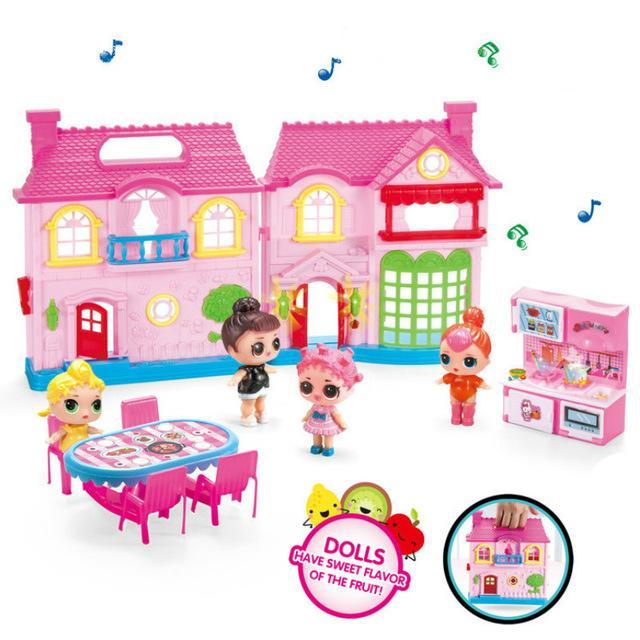 Genuine Diy Kids Surprises Toy Lol Dolls Villa House Action Figure