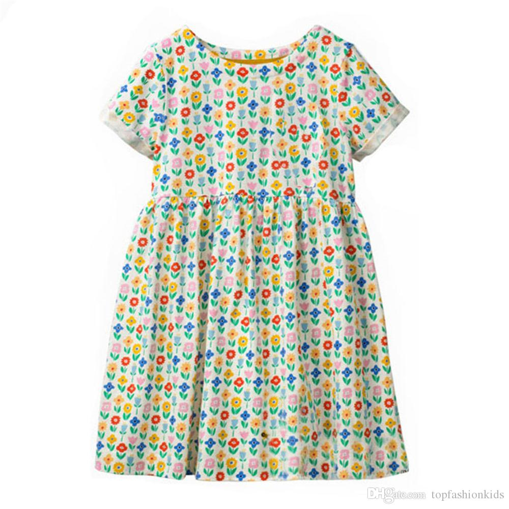 b2ee1b1d7cc0 2019 Stylish Girl Party Dress For Kids Cotton Summer Clothes ...