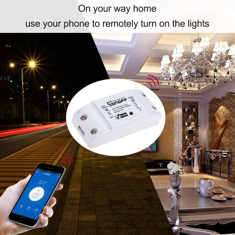 Sonoff Basic Smart Wifi Switch Wireless Remote Control Light Switch Smart Home Controller Work with Alexa and Google