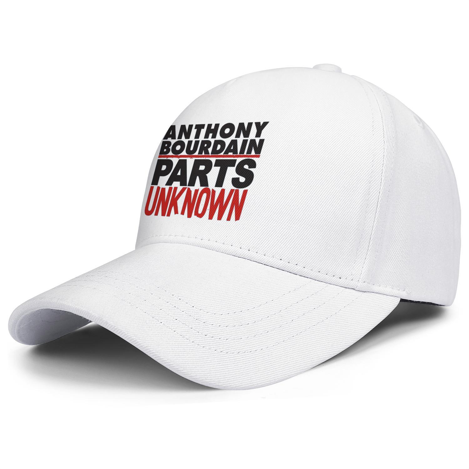 77602d65 Anthony Bourdain parts unk nown white Womens Mens snapback hats adjustable  baseball cap customize your own fashion Soft hat