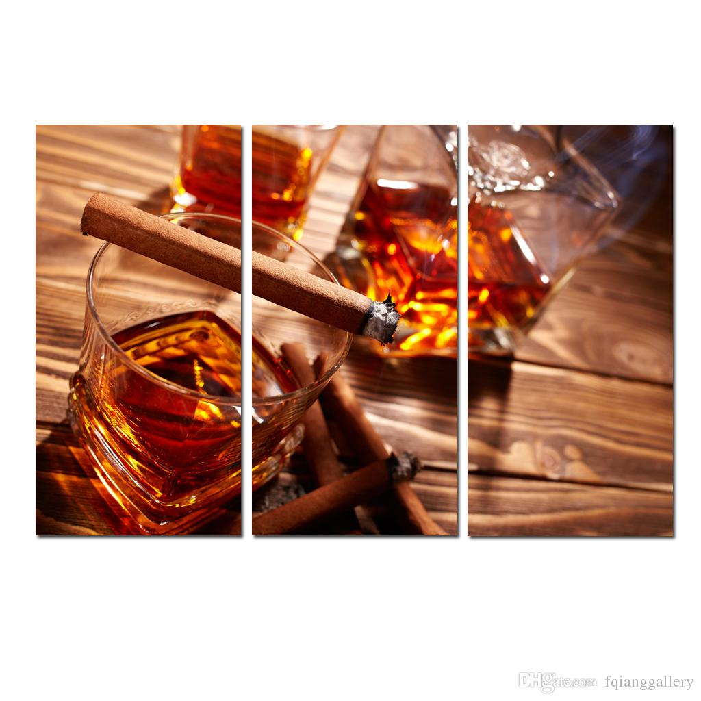 Acheter Grand Mur Art Contemporain Scotch Et Cigare Nourriture