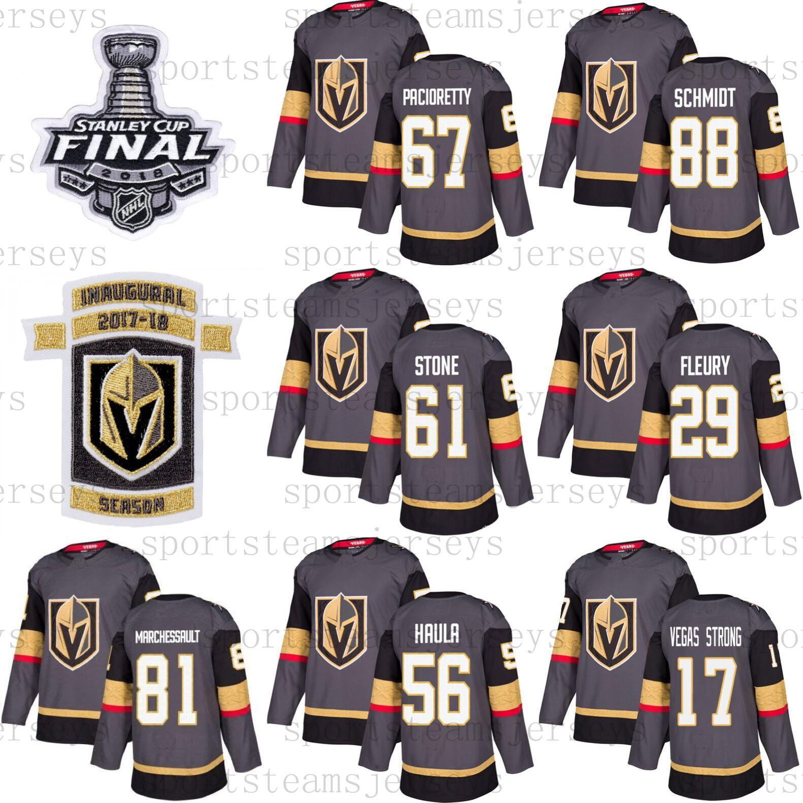 super popular af4df 17748 Vegas Golden Knights Jersey 67 Max Pacioretty 29 Marc-Andre Fleury 56 Erik  Haula Nate Schmidt Hockey Men Women Youth 2019 Stanley Cup Finals