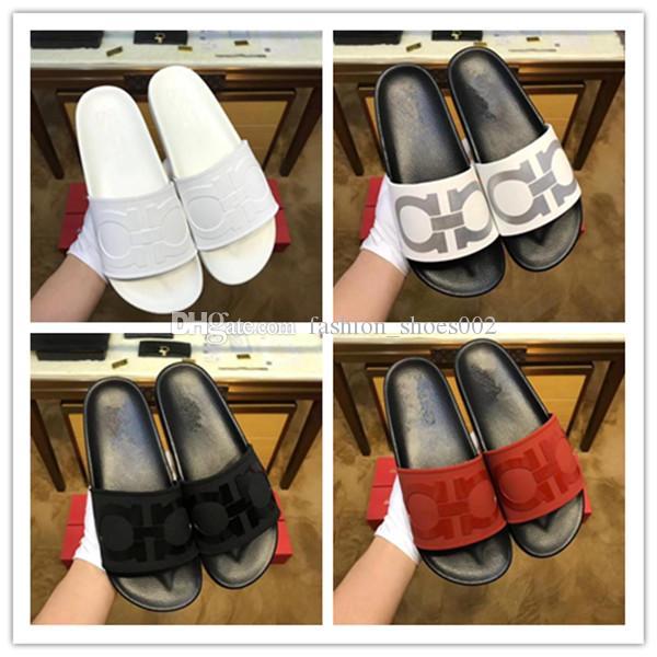 26df92d1c Famous European Men Prints Summer Rubber Slippers Sides Designer Flat  Sandals High Qulity Loafers Boy S Comfortable Casual Shoe 2019 Scuffs  Cowboy Boots For ...