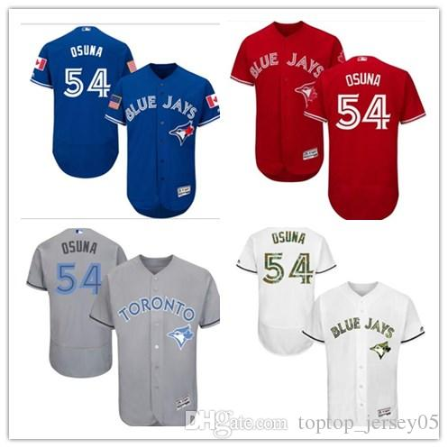 best service 8f2f7 f5c6a 2018 Toronto Blue Jays Jerseys #54 Roberto Osuna Jerseys  men#WOMEN#YOUTH#Men s Baseball Jersey Majestic Stitched Professional  sportswear