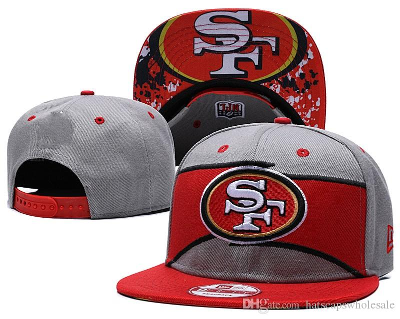848cf286f Top Fashion Men Women Sports Hat SF 49ers Baseball Cap Snapback Fit Hip Hop  Fashion Street Summer Hats Various Colors Caps
