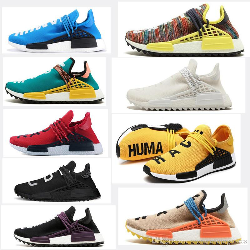 de70350da3068 2019 2019 NMD Human Race Hu Trail MenS MEN Women Designer Pharrell Williams  Yellow Noble Ink Core Black Red White Casual Shoes WITH BOX From ...