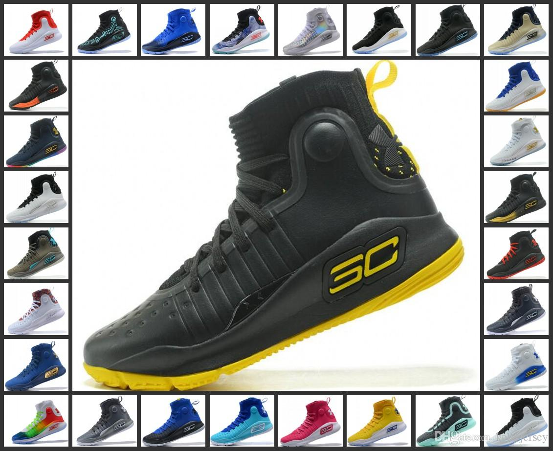 44a52196cf34 2019 Stephen Curry 4 Basketball Casual Shoes Steph Mens Curry 4  GoldChampionship MVP Finals Sports Training Sneakers Run Shoes From  Outletjersey