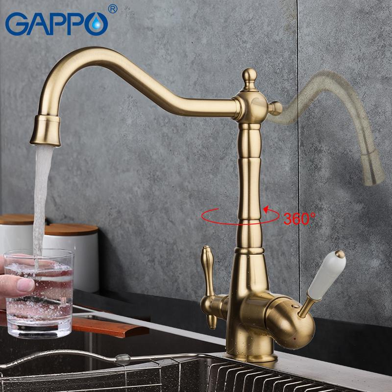 GAPPO kitchen faucet antique brass kitchen filter taps faucets kitchen sink  mixers tap water purified faucet