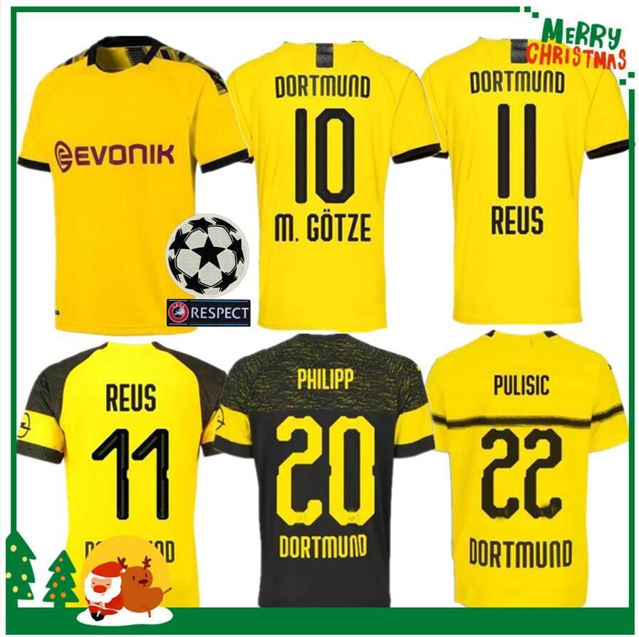 brand new 0fecf 69c57 19 20 Dortmund REUS home away Jerseys 2019 2020 Borussia SCHURRLE PISZCZEK  PULISIC jersey HUMMELS GOTZE Adult man woman kids kit sport shirt