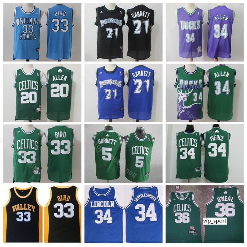 13263c9e891 2019 Boston Basketball Kevin Garnett Jersey Ray Allen Larry Bird Jesus  Shuttlesworth Paul Pierce O Neal Shaquille White Shirts Uniform From  Vip_sport, ...