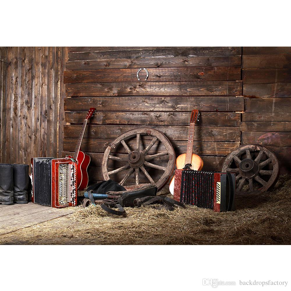 2019 western cowboy themed birthday party background wood wall barn warehouse straw guitars. Black Bedroom Furniture Sets. Home Design Ideas