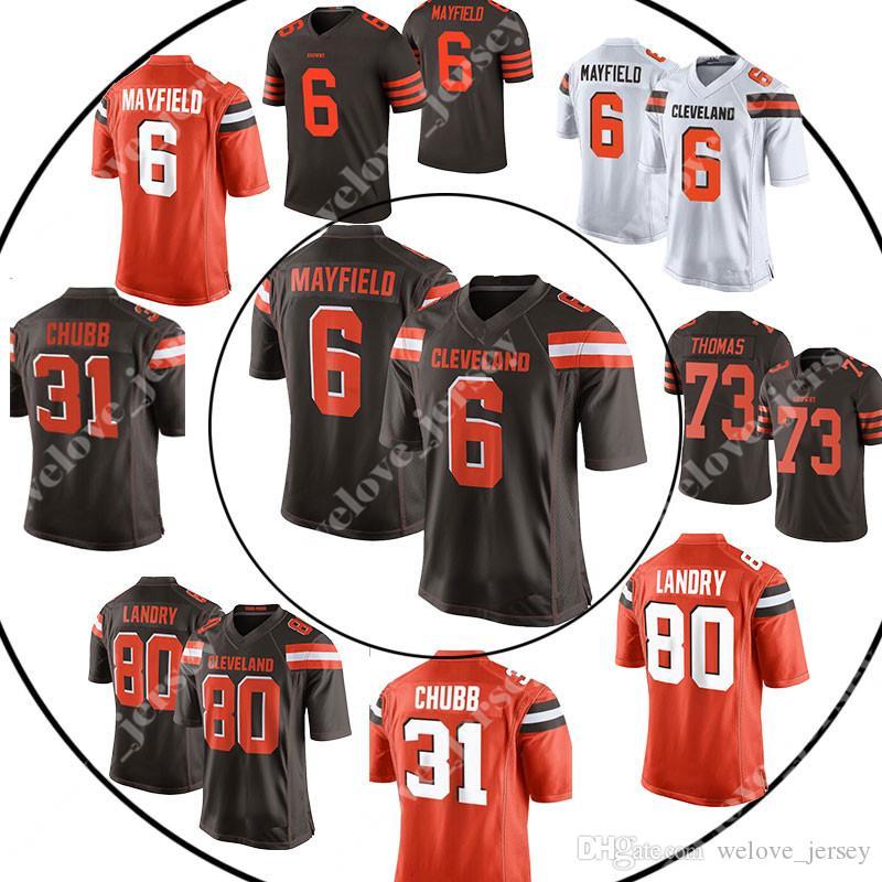 free shipping 2721e c8cd3 13 Odell Beckham Jr mens Cleveland jersey Brown 6 Baker Mayfield 21 Denzel  Ward 80 Jarvis Landry 22 Jabrill Peppers jerseys