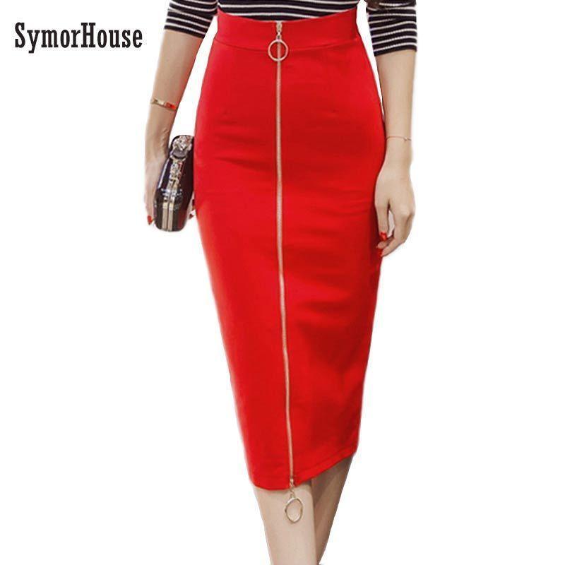 8982bd8216b019 2019 5xl Plus Size Women Pencil Skirts Spring Autumn 2019 Elegant ...